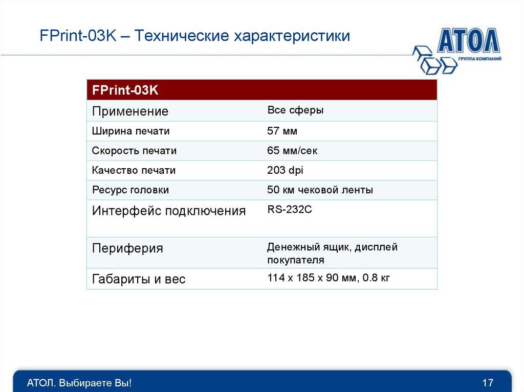 Форумы общения пользователей продуктов АТОЛ Атол Fprint