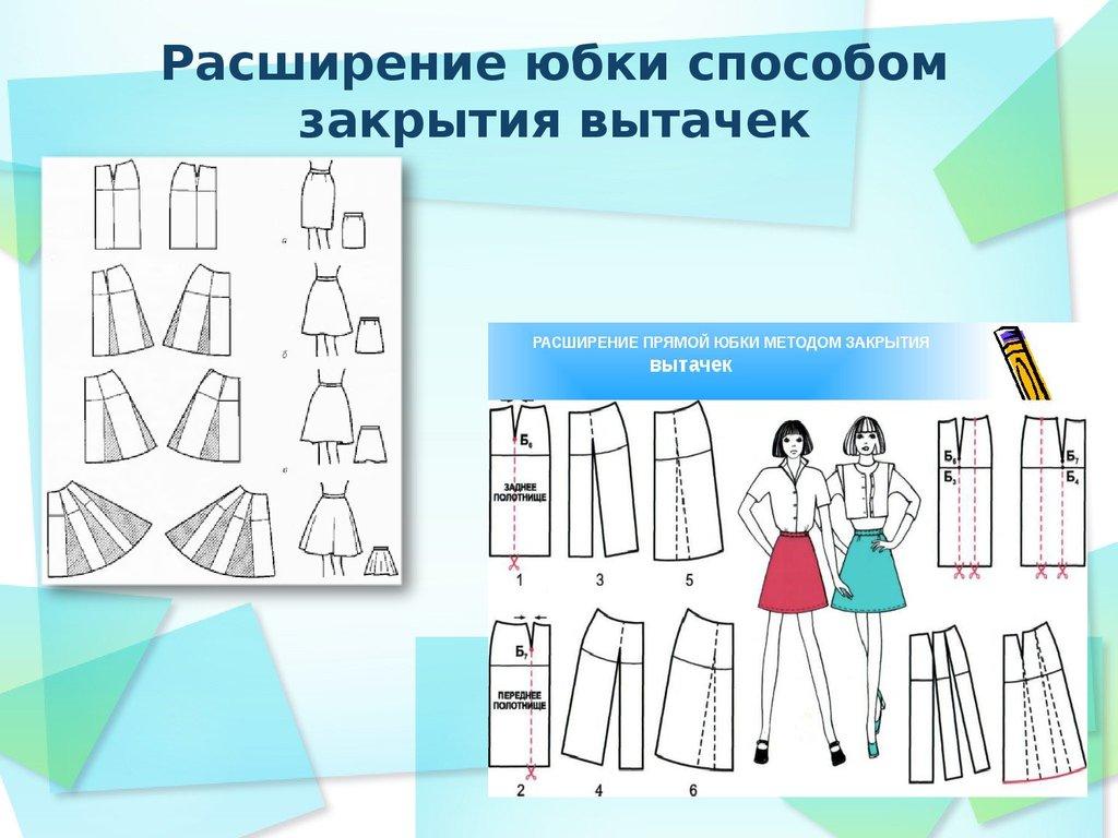 Как сделать юбку из основы юбки 974