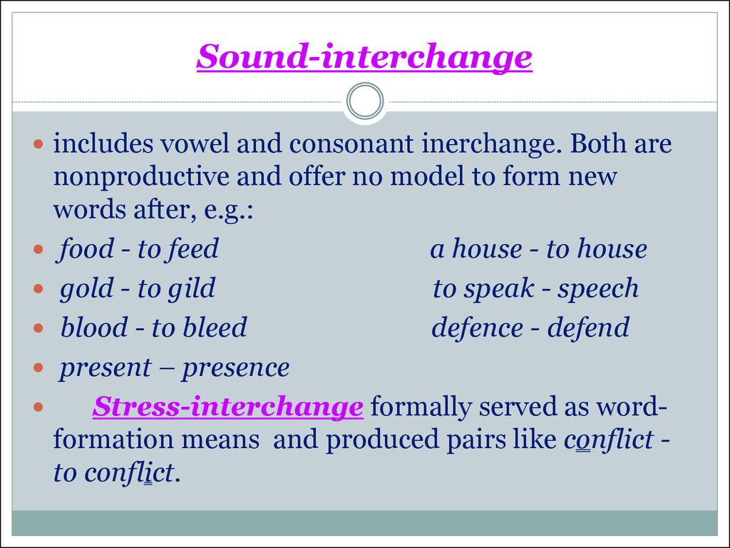 Sound-interchange