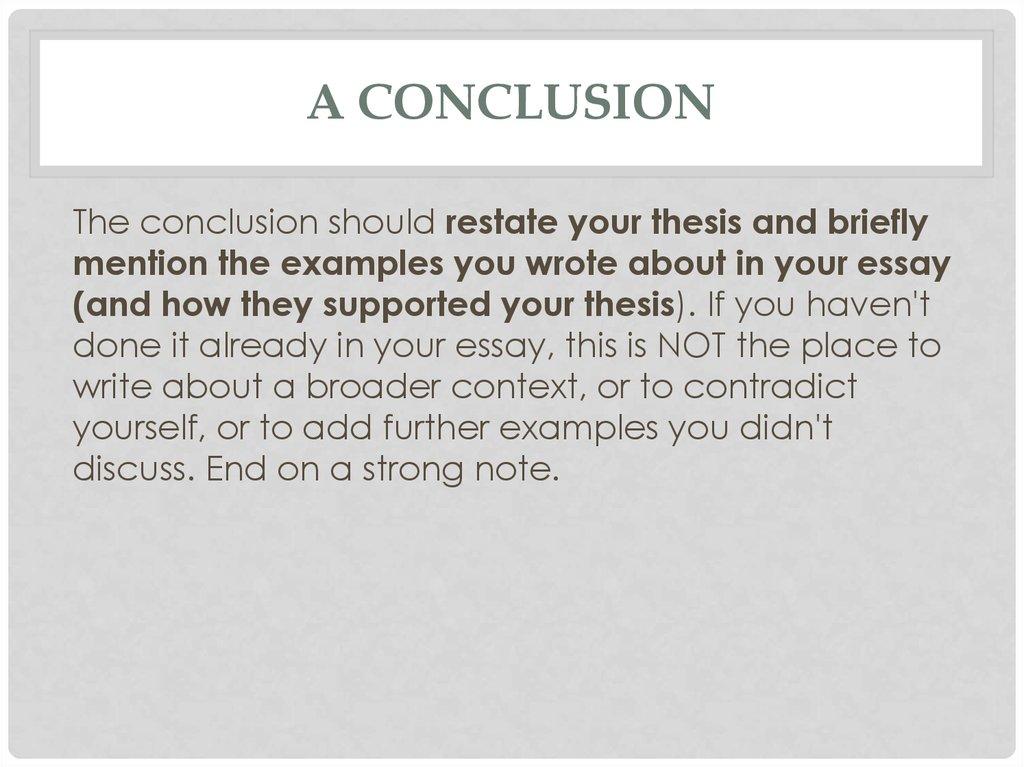 Globalization essay conclusion