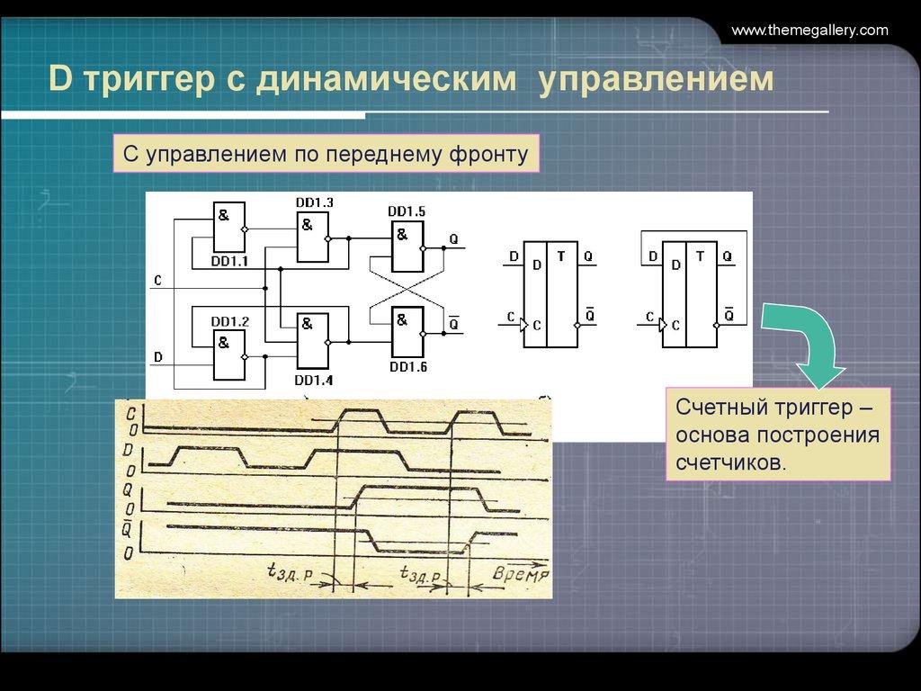 последовательный регистр на d триггерах схема