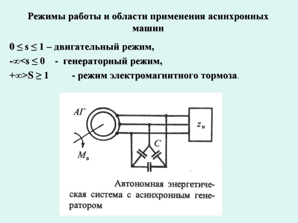 Схемы асинхронных двигателей