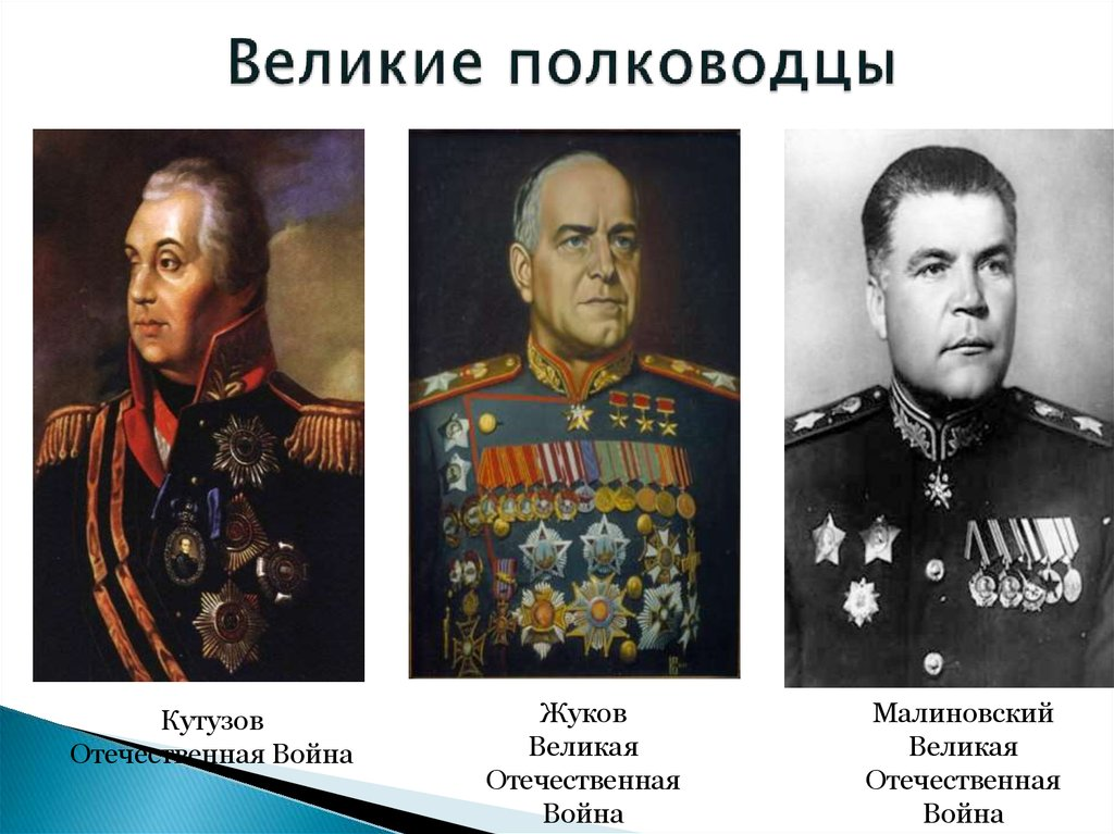 полководцы в великой отечественной войне таблица