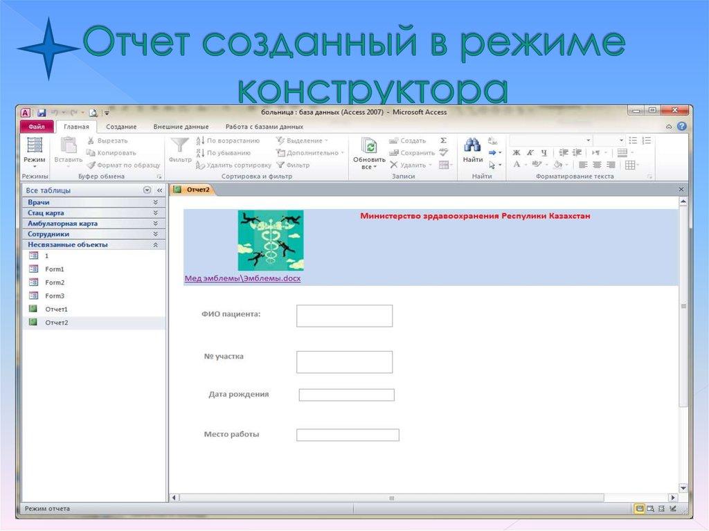 c как создать отчет reportview на основе объекта приложения