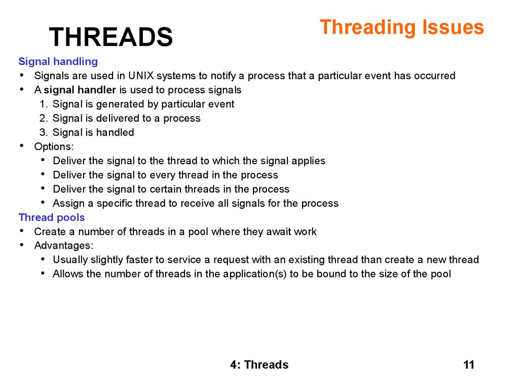 Operating Systems Threads Section 4 презентация онлайн