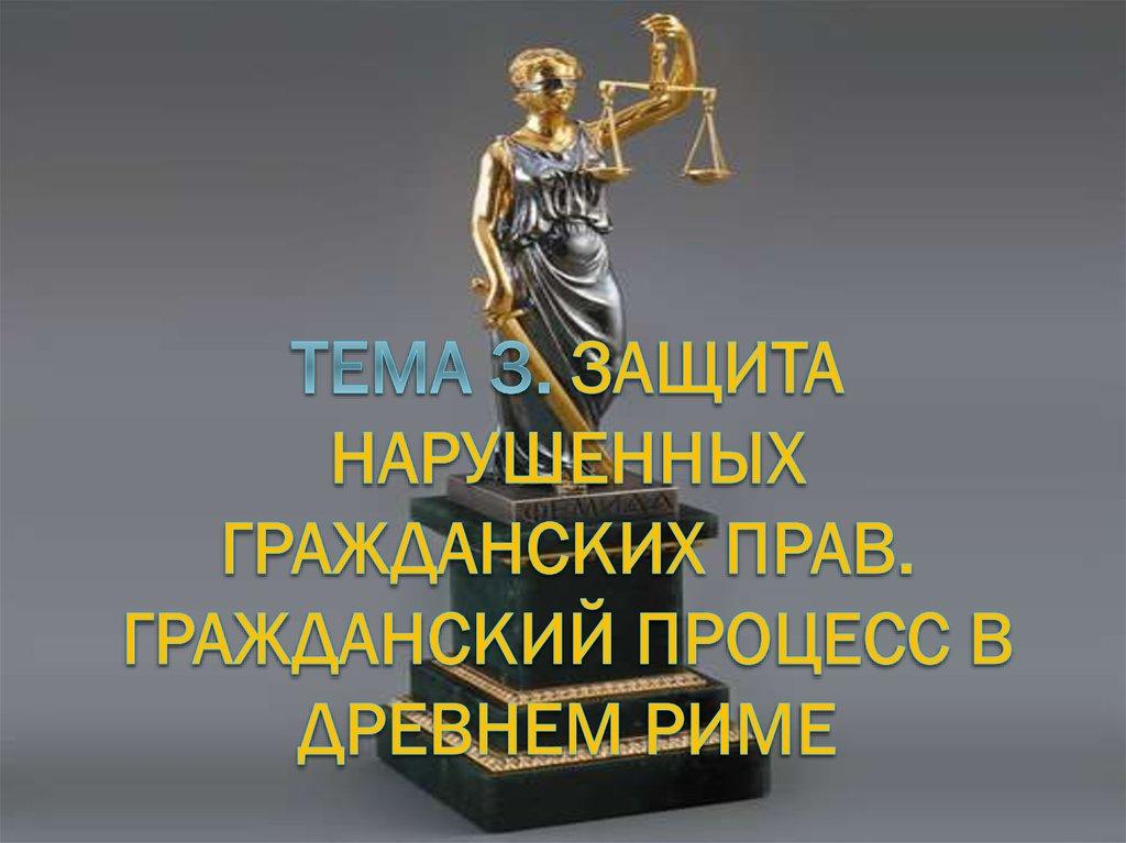 формы защиты гражданских прав курсовая
