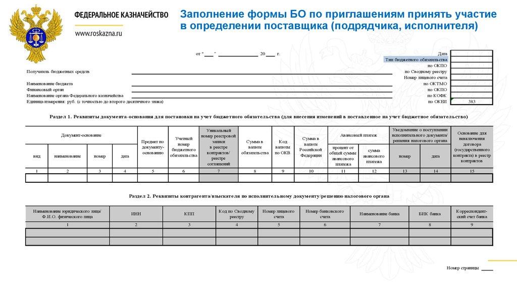 Формы документов о закупке открытого конкурса