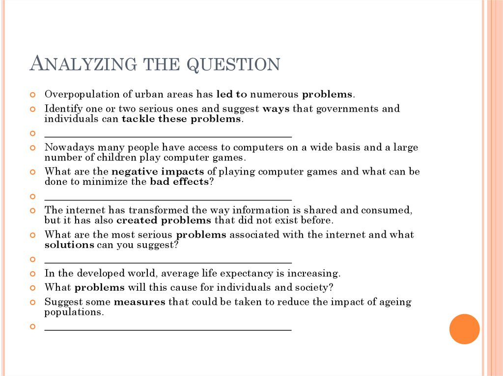solving a problem essay For an equation essay, state the problem and solution directly in the introduction explain the significance of the problem and your rationale for solving it as you did.