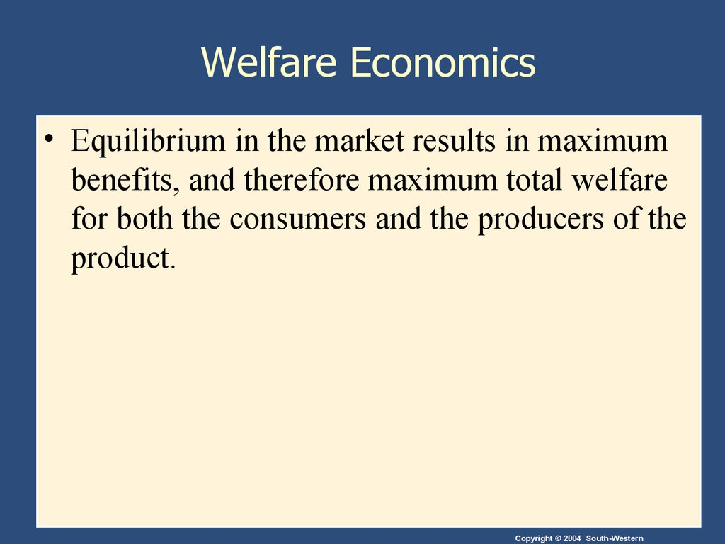 welfare of economics