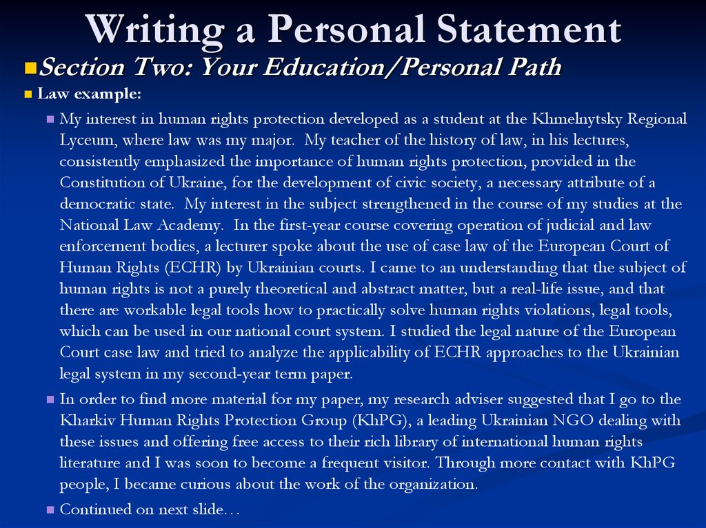 Write my do personal statement
