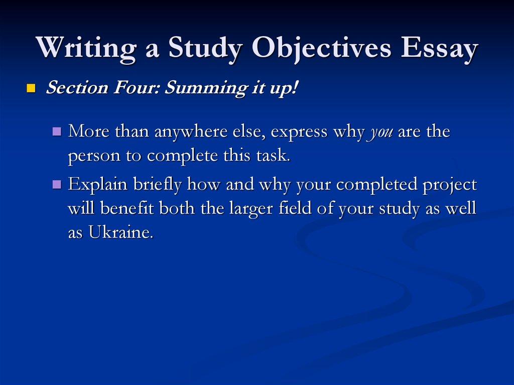 Study Essays