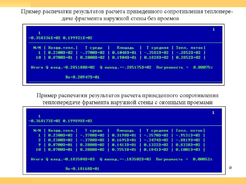 Теплотехнический расчет пример программа калькулятор
