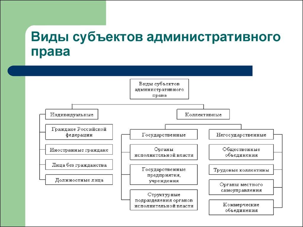 административно правовые основы: