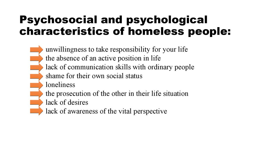 An introduction to the issue of homelessness in todays society