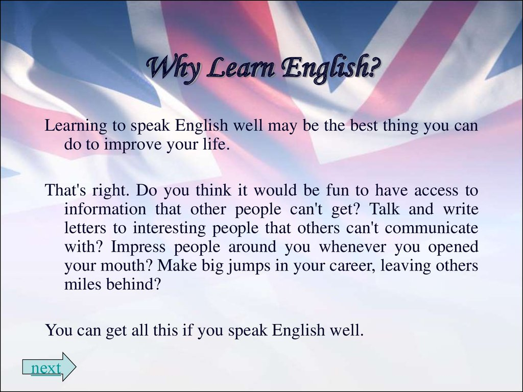 PPT – Why English is important? PowerPoint presentation ...