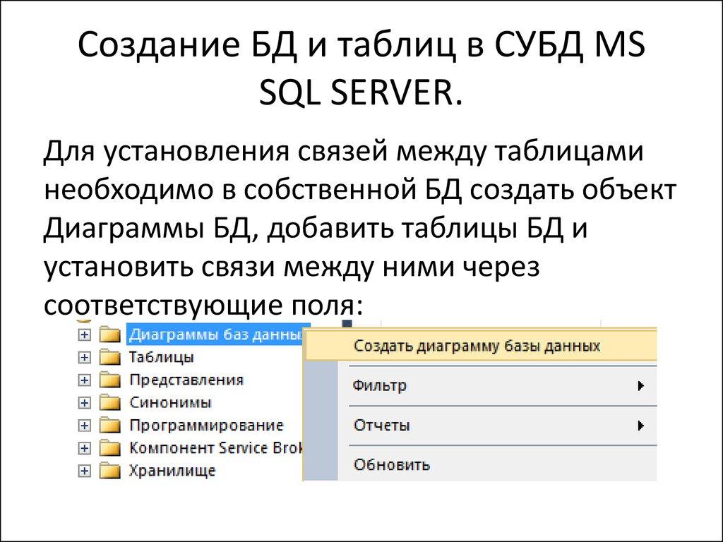 Как создать бд в sql server - Russkij-Litra.ru