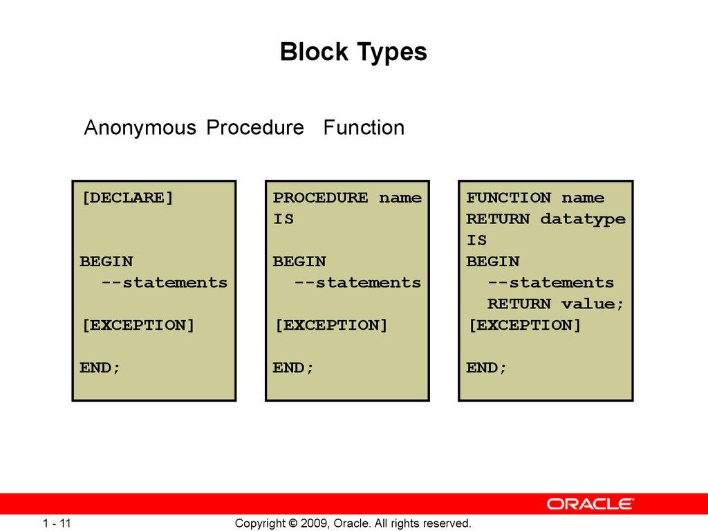 pl sql block structure pdf