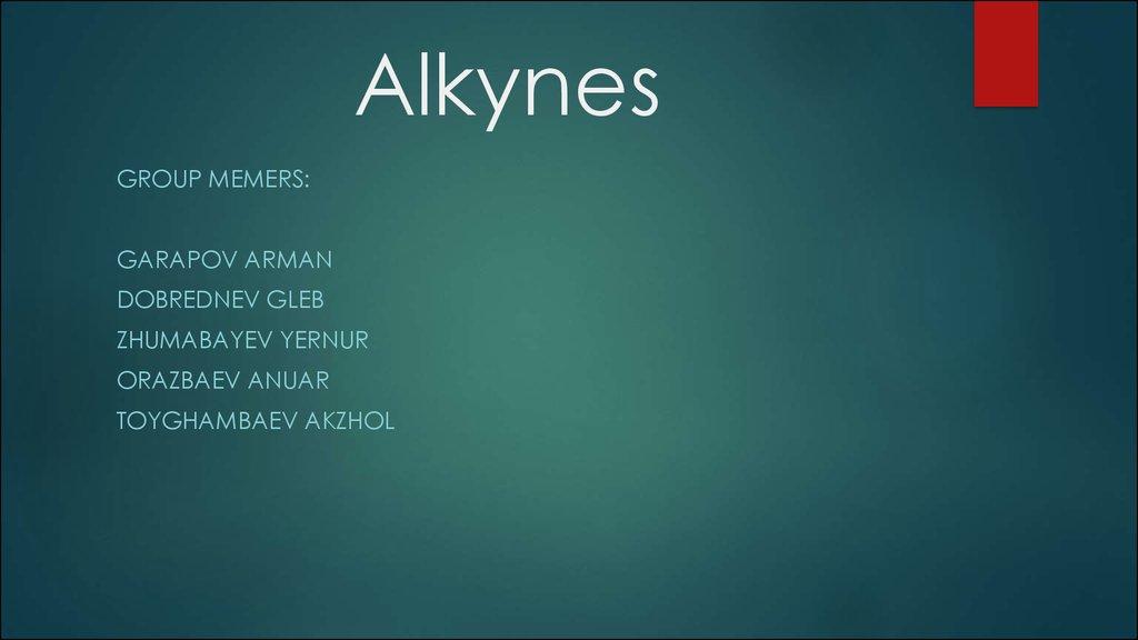 Alkynes презентация онлайн