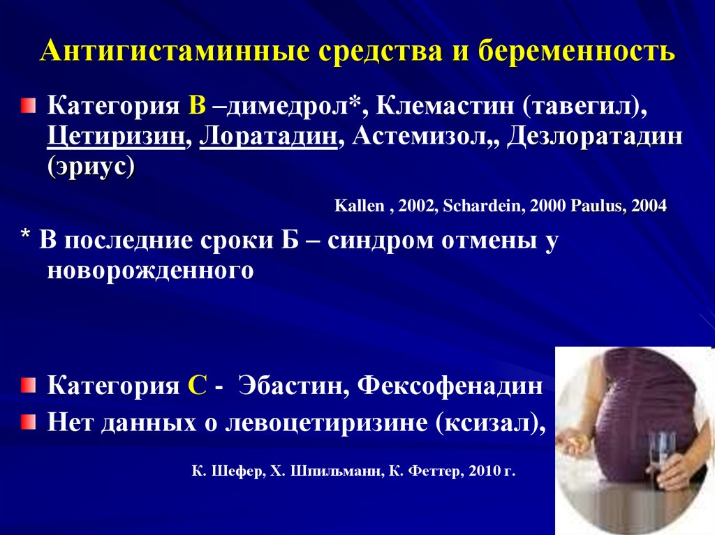 Антигистаминные для беременных инструкция 31