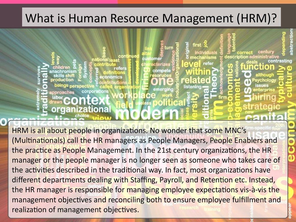 Introduction To Human Resource Management презентация онлайн