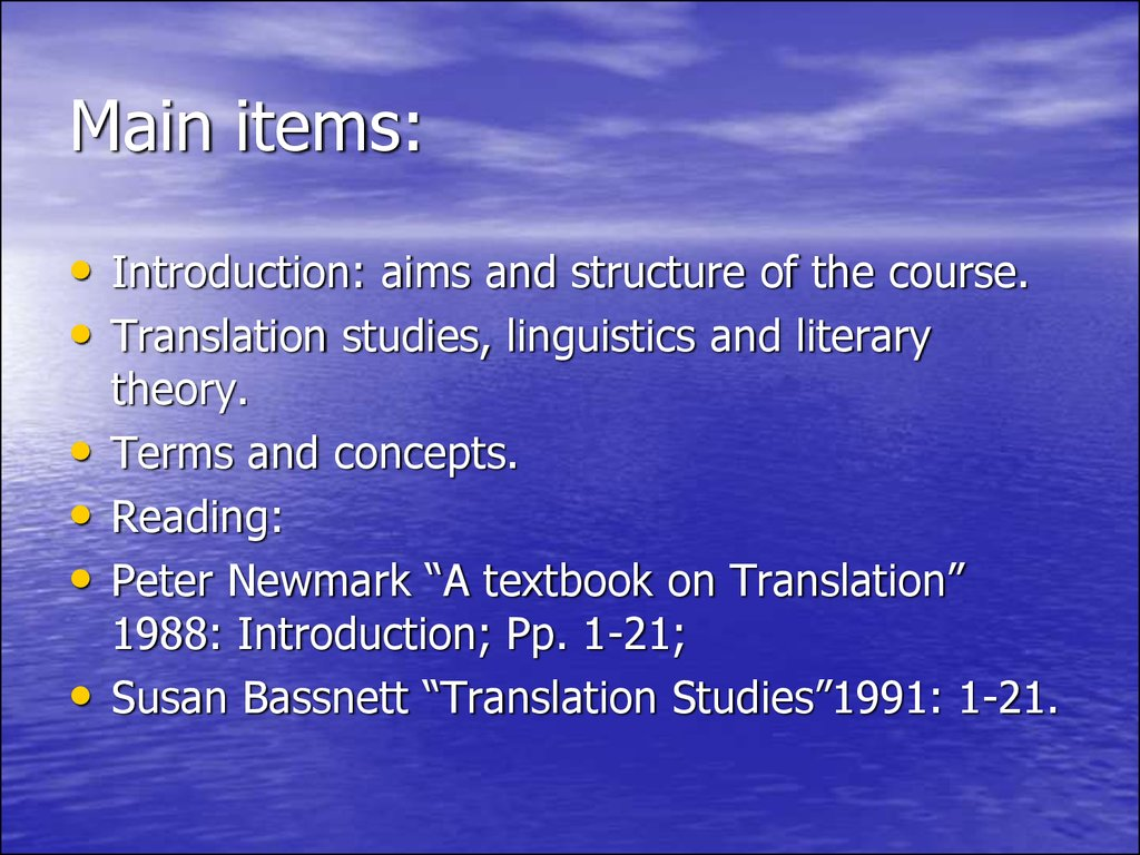 translational studies
