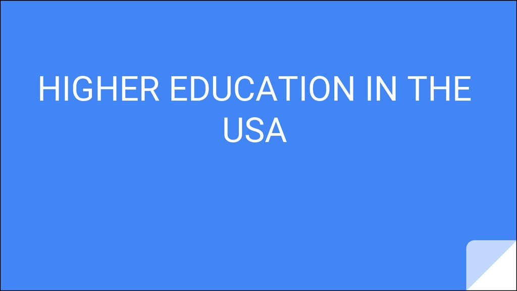 higher education in the usa and In the usa, compulsory education varies from state to state, but most children must attend school between ages 6 and 18 the education system is divided into primary, secondary and higher education .