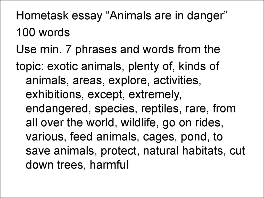 Essay topics on endangered species
