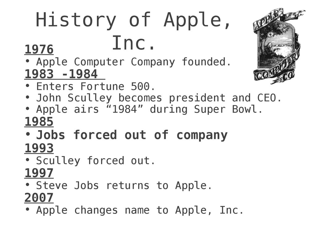 Apple Fast Facts