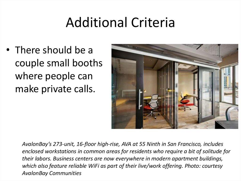 Madison Office Common Area Common Area Additional Criteria Madison Office C