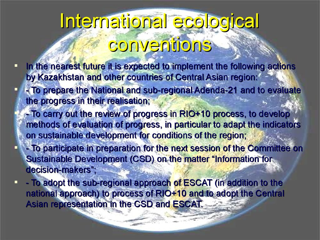 International ecological conventions