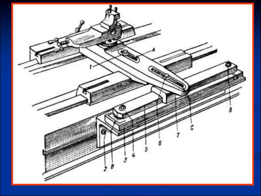 схема работы конусной линейки на токарном станке