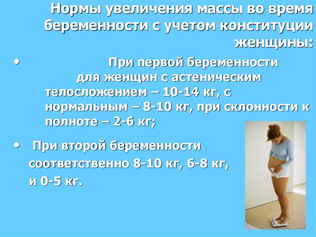 Прибавка в весе для беременных норма 69