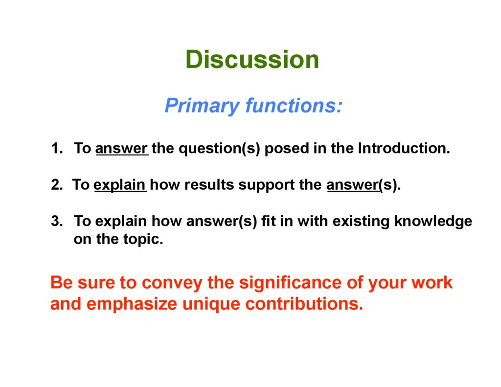 How to write a discussion paper