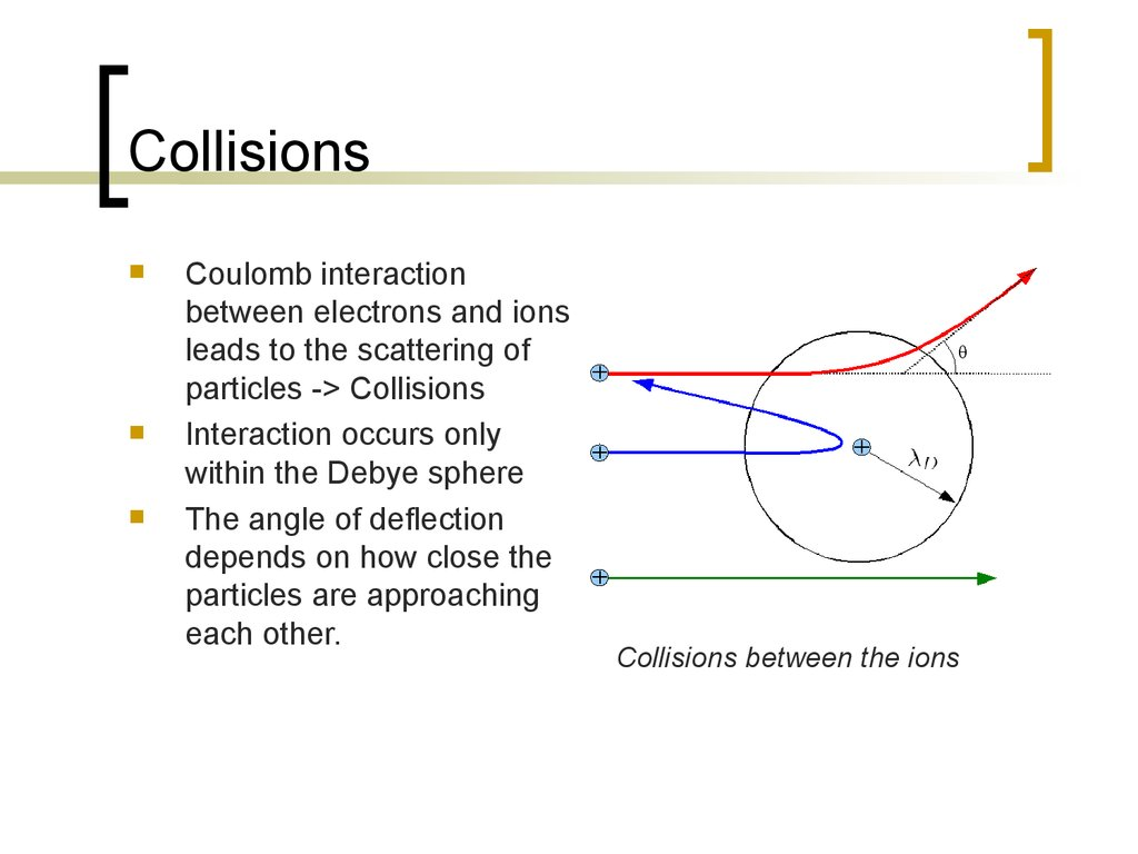 Physics of fusion power. Collisions / Transport (Lecture ...