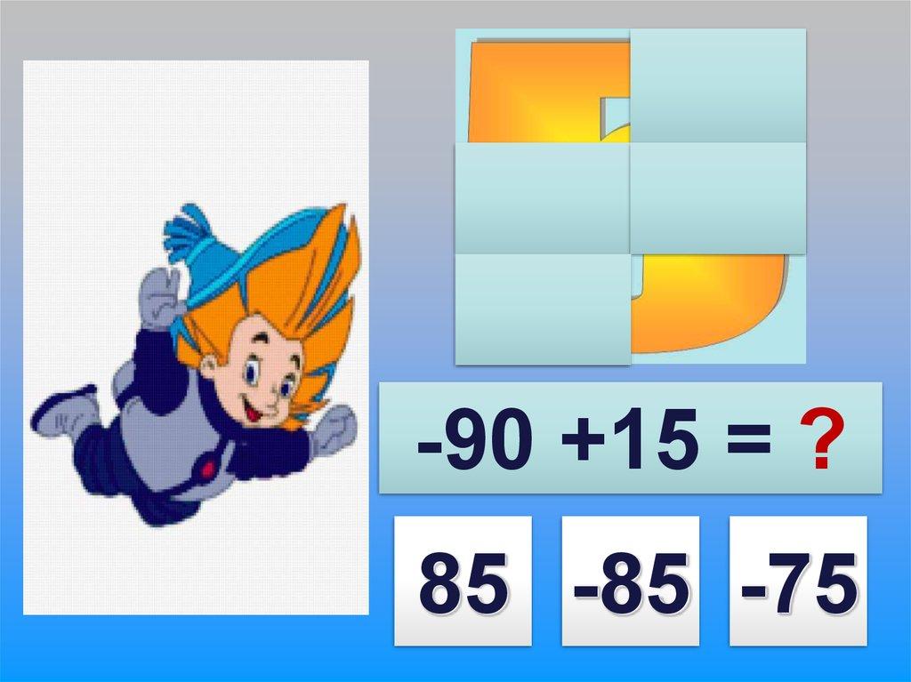 математика сложение чисел с разным знаком
