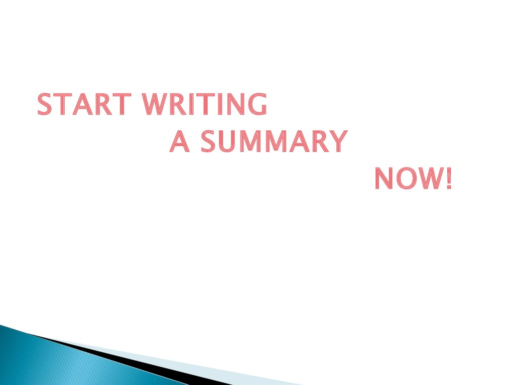 summary writing online Used by over 843,000 writers, writer is the coolest, fastest, distraction-free writing app around it's just you and your words.
