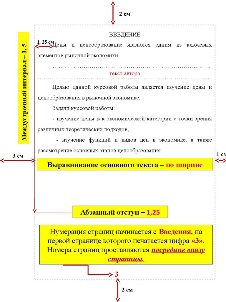 Структура и содержание курсовой работы Методы ценообразования в рыночной экономике курсовая работа