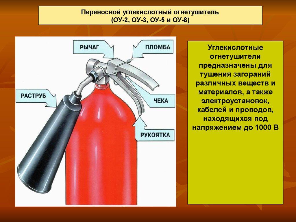 инструкции по эксплуатации огнетушителей оу
