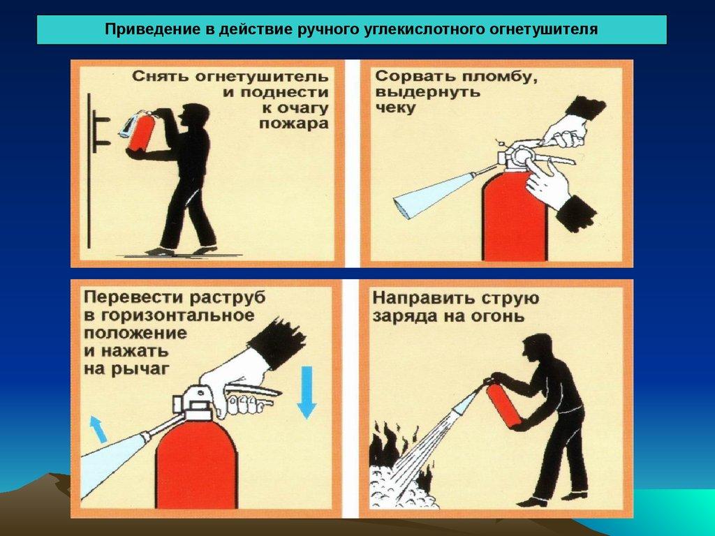 огнетушитель порошковый наклейка инструкция по применению