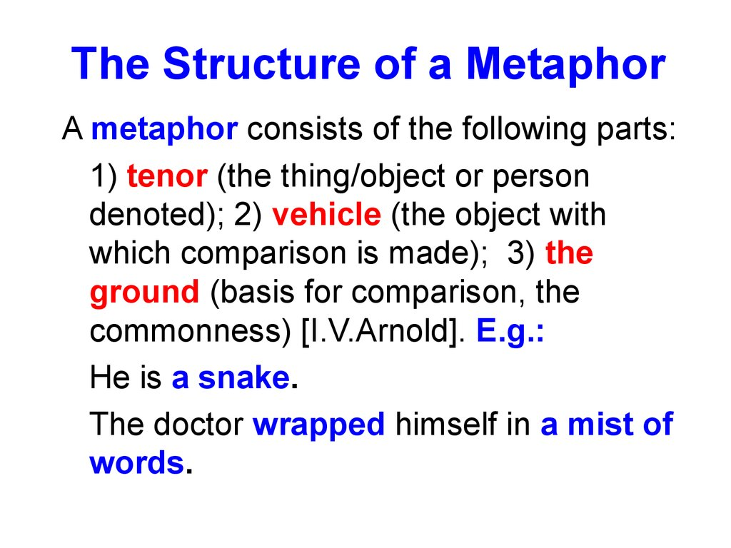 The Structure of a Metaphor