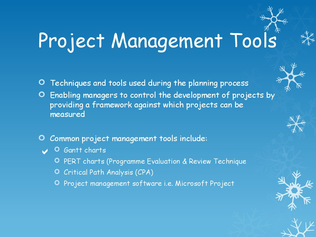 Project Management Tools - PERT and CPA - презентация онлайн