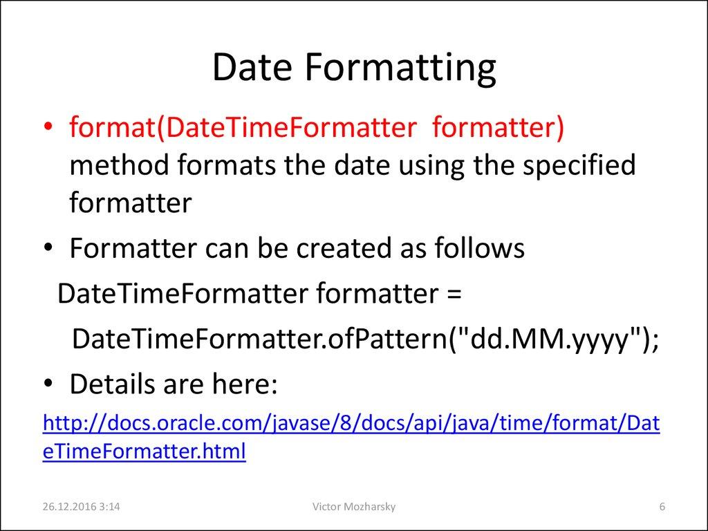 Java date class