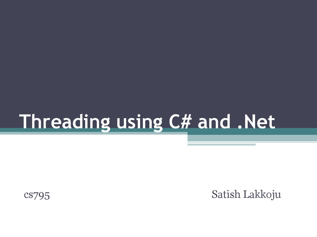 Threading in C  Part 4  Advanced Threading