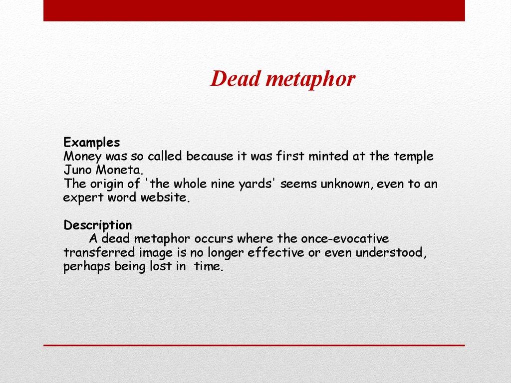 Metaphors History Of Metaphors презентация онлайн