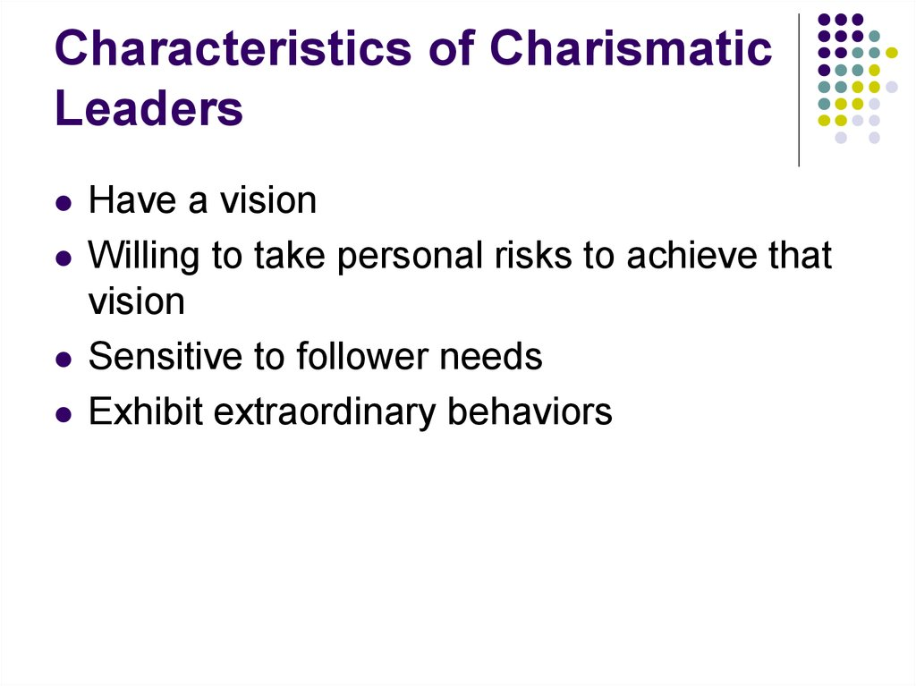 Traits of a Charismatic Leader