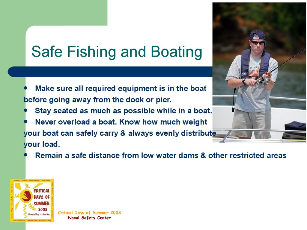 Fishing Safety презентация онлайн