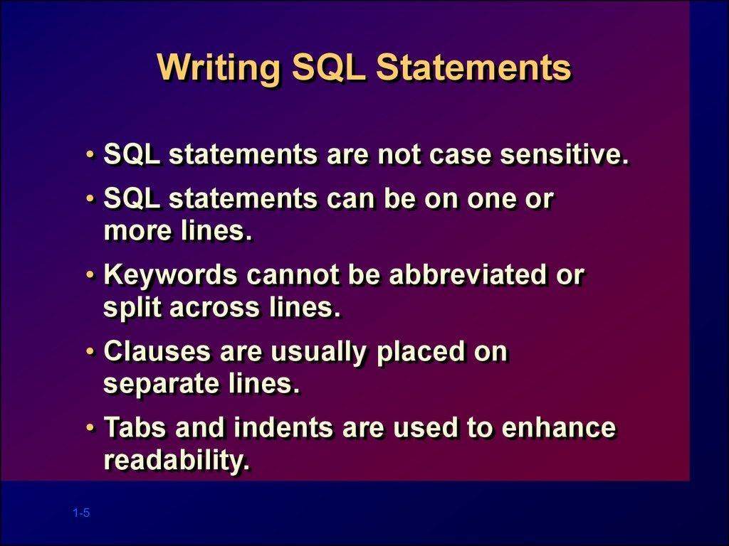 writing sql Structured query language (sql) is an indispensable skill in the data science industry and generally speaking, learning this skill is fairly easy however, most forget that sql isn't just.