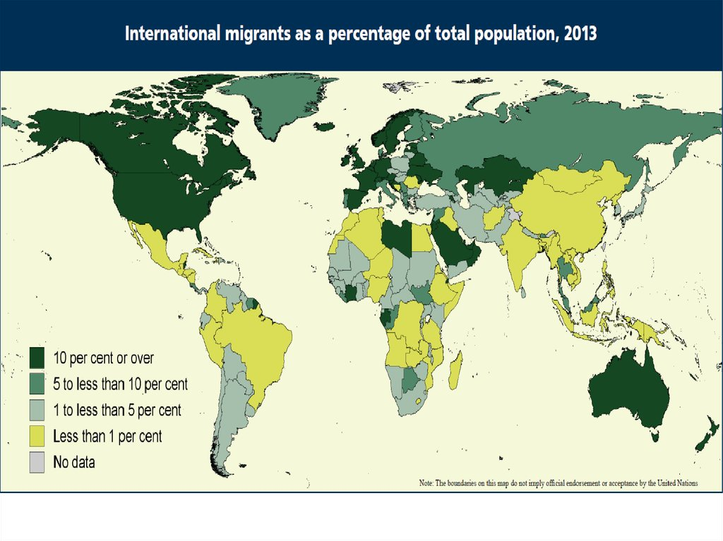 the intensification of international migration International migration international migration be defined as the intensification of worldwide social relations which link distant localities in such a way.