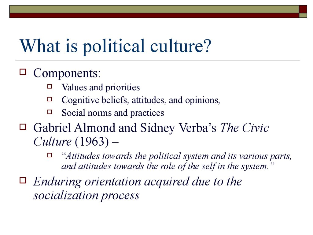 political culture change Political culture change in 2004, americans were proud of the war on terrorism, our accomplishments in the middle east, and the incumbent president that had kept us.