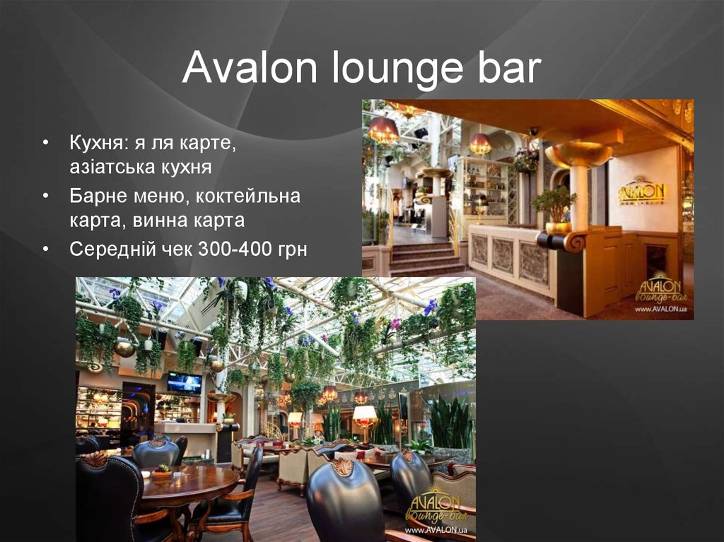 Avalon lounge bar
